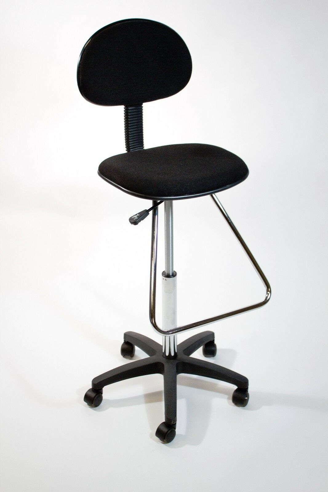 Black Drafting Counter Height Stool Chair Art Bank Swivel Adjustable Tall N