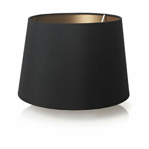 black faux silk gold lined lamp light shade lightshade 28cm x 20cm new. Black Bedroom Furniture Sets. Home Design Ideas