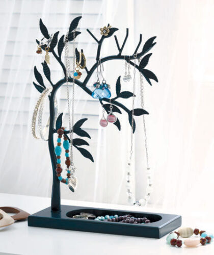 Black Jewelry Leaf Tree Ring Earring Bracelet Necklace Holder Organizer Decor in Jewelry & Watches, Jewelry Boxes & Organizers, Jewelry Holders & Organizers | eBay