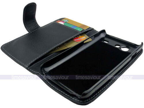 Black Leather Case Wallet for Samsung Galaxy S Advance i9070 Inner Card Slot in Cell Phones & Accessories, Cell Phone Accessories, Cases, Covers & Skins | eBay
