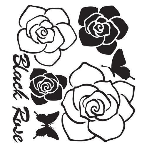 Black Rose Instant Art Home Decor Wall Sticker Decal Sheet in Home & Garden, Home Decor, Decals, Stickers & Vinyl Art | eBay