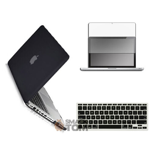 Black Rubber Hard case for Macbook Pro 13 Screen Protector and keyboard Skin NEW in Computers/Tablets & Networking, Laptop & Desktop Accessories, Laptop Cases & Bags | eBay