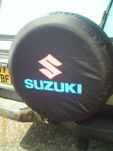 Black-SUZUKI-JIMNY-VITARA-SIERRA-wheel-cover-spare-tyre-wheelcover-leather-type