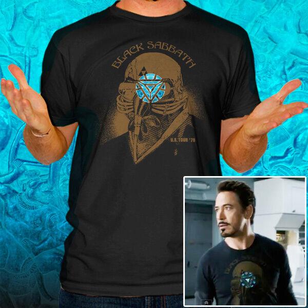 Man Tony Stark The Avengers US Tour 78 Arc T Shirt Tee LL10