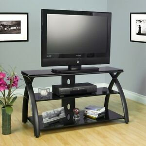 Black TV Stand Flat Screen 42 Inch Television