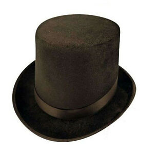 Black-Top-Hat-Magicans-Victorian-Ringmaster-Burlesque-Lincoln-Hat-Fancy-Dress