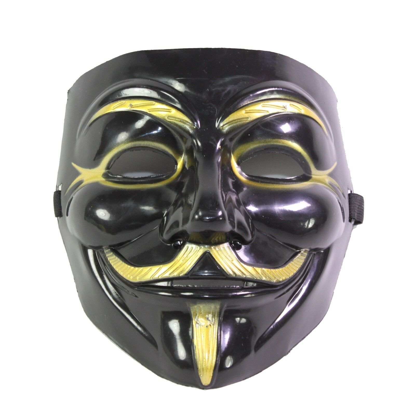 by Rock Black//Gold Gold or Black Annonymous Vendetta Mask