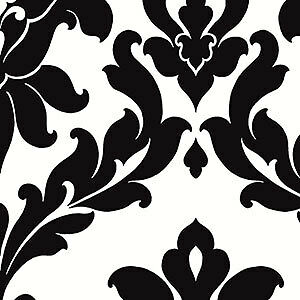 Black and white damask wallpaper ebay for Black white damask wallpaper mural