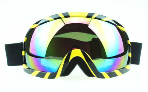 Black with Yellow coloured Lens Motorcycle Ski Snowboard Goggles NEW in Sporting Goods, Winter Sports, Clothing & Accessories | eBay