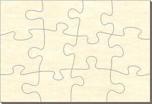 blanko holz puzzle rechteck 12 teile 38x28 cm zum selbst bemalen ebay. Black Bedroom Furniture Sets. Home Design Ideas