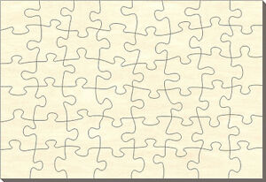 blanko holz puzzle rechteck 48 teile 28x19 cm zum selbst bemalen ebay. Black Bedroom Furniture Sets. Home Design Ideas