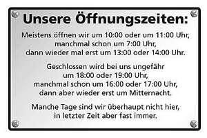 Blechschild-UNSERE-OFFNUNGSZEITEN-FUNSCHILD-FUN-SCHILD-20x30-cm-23051