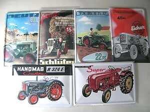 Blechschilder-Traktor-Schlepper-Porsche-Hanomag-Lanz-Fendt-Deutz-20x30-cm-Neu