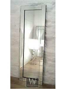 Blenheim Silver Glass Framed Full Length Bevelled Wall