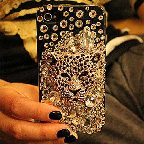 Bling Bling Crystal shell cover Case For IPhone4 4S Leopard head Diamond ZDA04 in Cell Phones & Accessories, Cell Phone Accessories, Cases, Covers & Skins | eBay