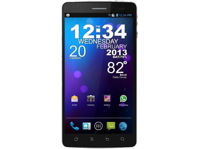 Blu Quattro 5 7 HD D460 Black Quad Core 1 5GHz Unlocked Cell Phone