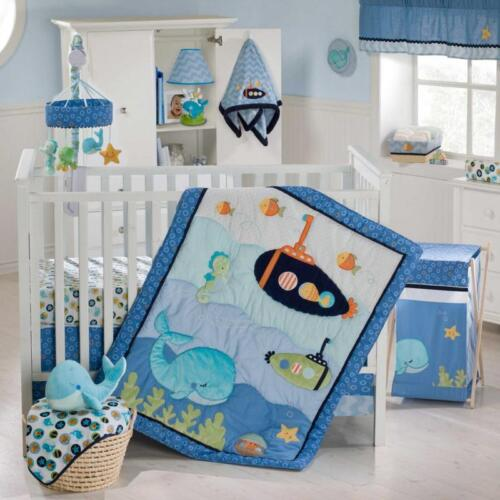 Blue Lagoon 9 Piece Baby Crib Bedding Set by Kidsline in Baby, Nursery Bedding, Crib Bedding | eBay