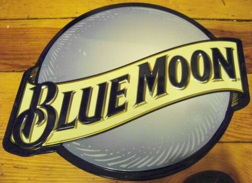 Blue Moon Beer Embossed Die Cut Bar Brewery Advertising Metal Tin Sign in Collectibles, Breweriana, Beer, Signs, Tins | eBay