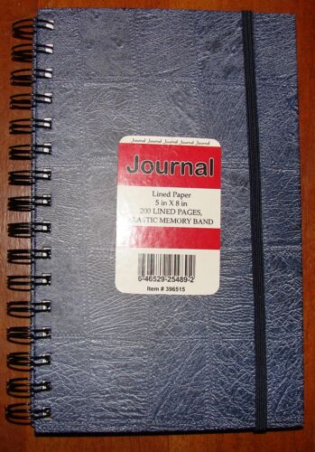 "Blue Spiral Blank Journal Denim Patchwork Design * 5"" x 8"" x .5"" Lined Pages NEW in Books, Accessories, Blank Diaries & Journals 