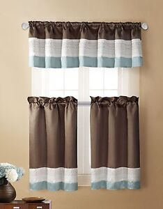 Blue And Brown Curtains And Drapes Blue and Brown Bathroom Acc