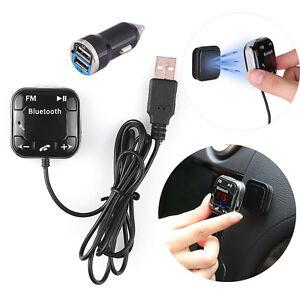 Bluetooth-Auto-MP3-Player-FM-Transmitter-USB-Ladegeraet-Freisprechanlage-SD-AUX