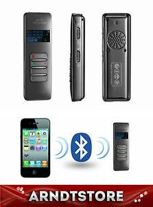 bluetooth iphone digital diktierger t voice recorder 8 gb mp3 usb sd karte ebay. Black Bedroom Furniture Sets. Home Design Ideas