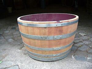 Blumenkuebel-mit-Extraring-Pflanzkuebel-Weinfass-Eichenfass-Miniteich-Bottich-Fass