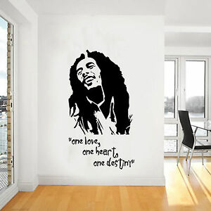 Bob marley wall art giant sticker mural vinyl large decal for Bob marley mural