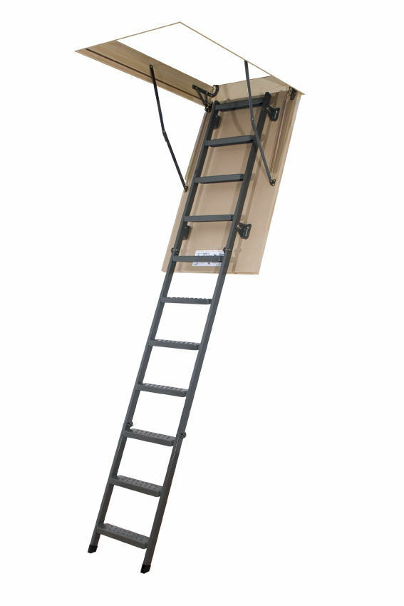 Bodentreppe H305 60x130 Holztreppe 130x60 Speichertreppe mit Handlauf LWK FAKRO