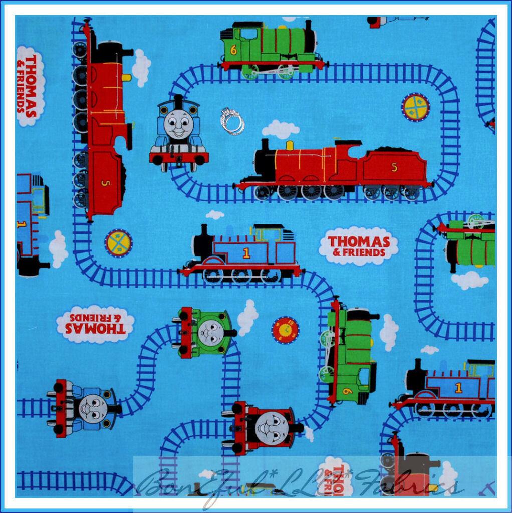 BonEful Fabric FQ Thomas Tank Engine Train Track Cartoon Show Movie Desktop Wallpaper