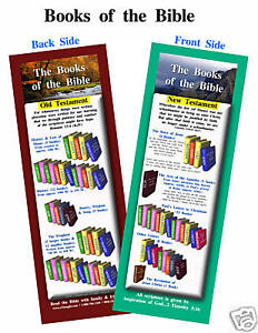 "Books of the Bible - 2""x6"" - 25 Bible Bookmarks in Books, Accessories, Bookmarks 