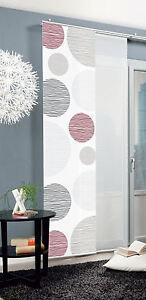 borden fl chenvorhang schiebegardine schiebevorhang blickdicht gardine grau rot ebay. Black Bedroom Furniture Sets. Home Design Ideas