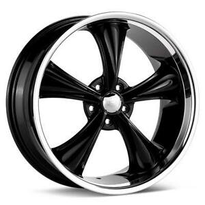 Rims on Boss 338 5x4 5 Rims 18 Inch Black Wheel Ford Mustang   Ebay