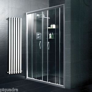 Box doccia cabina bagno porta scorrevole vetro cristallo - Porta scorrevole bagno ...
