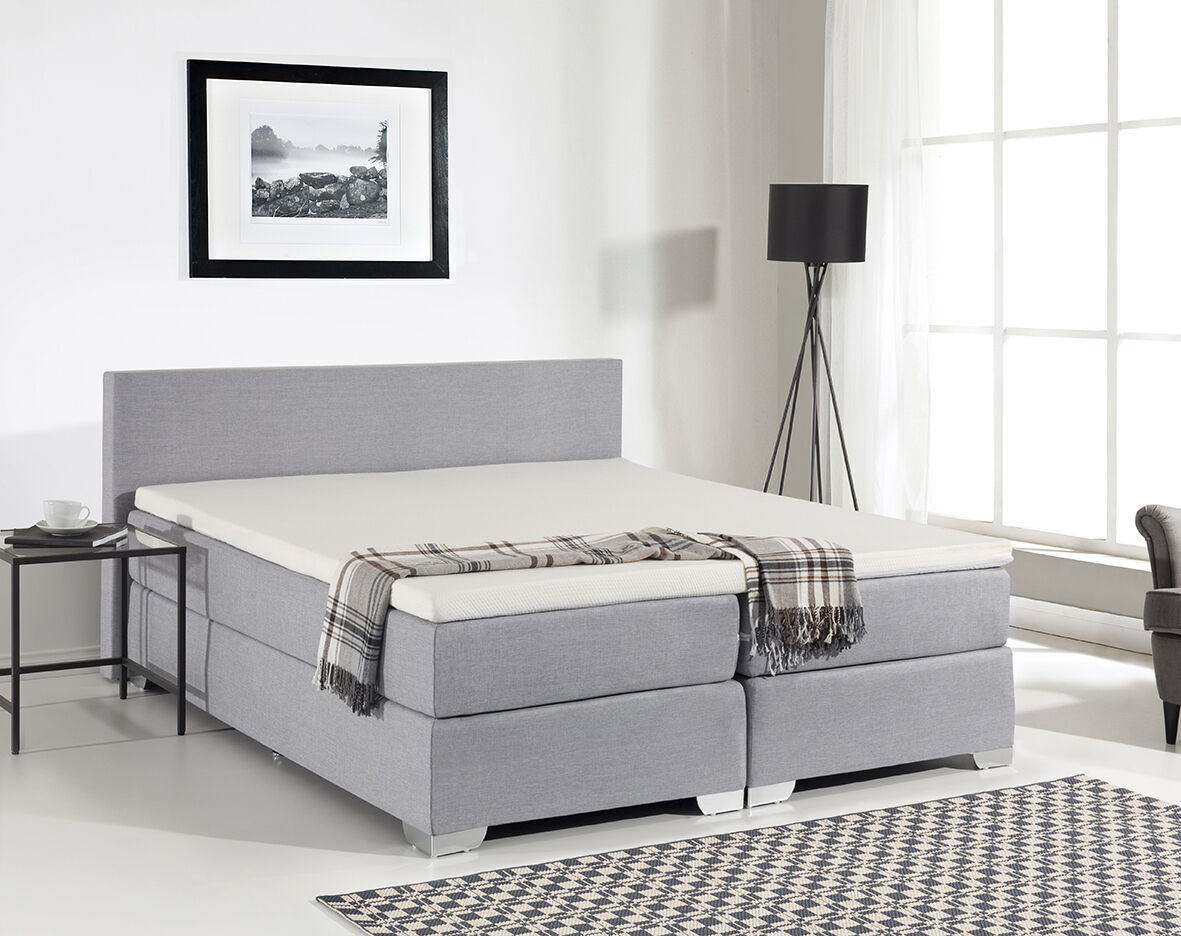 boxspring bett mit matratze visko topper matratzenauflage boxspringbett stoff ebay. Black Bedroom Furniture Sets. Home Design Ideas