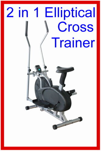 Brand New 2 in 1 Elliptical Cross Trainer exercise Fitness Bike Home Gym Workout in Sporting Goods, Exercise & Fitness, Gym, Workout & Yoga | eBay