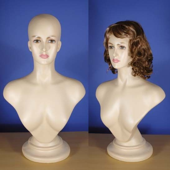 Brand New 26 Flesh Tone Female Mannequin Head & Bust 104N