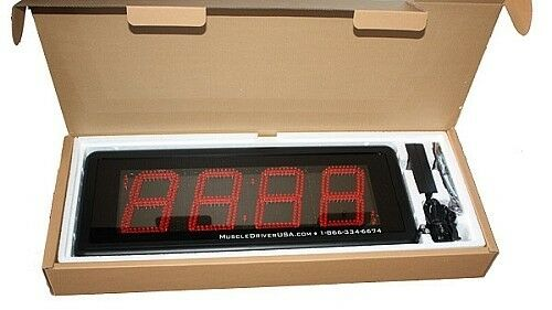 Brand New Muscle Driver Clock Gone Bad Interval Wall Timer