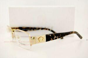 c89072da488 Brand New Versace Eyeglasses Frames 1175B 1002 Gold for Women 100 Authentic