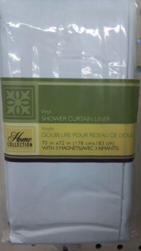 "Brand new vinyl shower curtain liner with magnets 70"" x 72"" WHITE tub in Home & Garden, Bath, Shower Curtains | eBay"