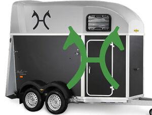 brandzeichen hannoveraner pferde aufkleber f r. Black Bedroom Furniture Sets. Home Design Ideas