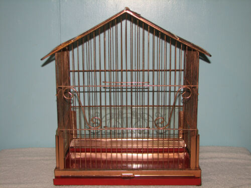Brass Bird Cage ~ Vintage Pacific Canary ~ Shabby Chic Style ~ Finch Parakeet in Pet Supplies, Bird Supplies, Cages | eBay