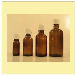 Braunglasflasche-Apothekerflasche-mit-Tropfeinsatz-je-10x