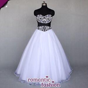 Brautkleid, Hochzeitskleid in Schwarz/Weiß Größe 34-54 zur ...