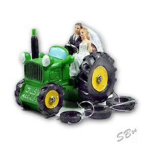 Brautpaar auf traktor hochzeitspaar f r torte und tisch - Tischdeko brautpaar ...