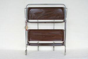 bremshey dinett servierwagen teewagen klappbar beistelltisch 60er jahre ebay. Black Bedroom Furniture Sets. Home Design Ideas