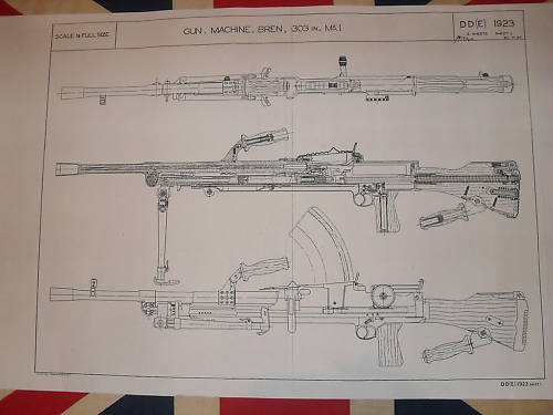 Bren Machine Gun 303 Blueprints Schematics 1 2 Scale on PopScreen