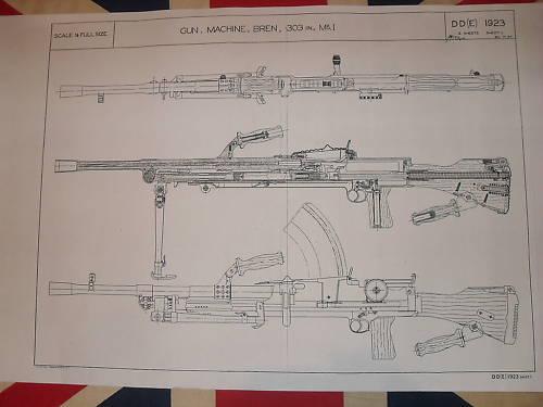 Bren Machine Gun 303 Blueprints Schematics 1 2 Scale on PopScreen