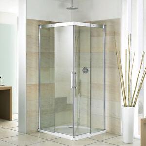breuer panorama duschkabine duschabtrennung eckeinstieg mit schiebet ren ebay. Black Bedroom Furniture Sets. Home Design Ideas