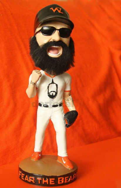 Brian Fear The Beard Wilson The Weez Bobblehead San Francisco Giants